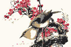 水墨花鸟图片