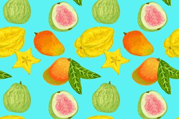 水果矢量花纹背景图片