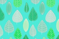 创意树叶无缝背景图片