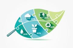 树叶环保信息图
