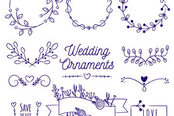 婚礼花纹图案