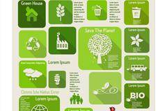 绿色生态环保信息图