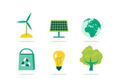 绿色环保标识矢量图