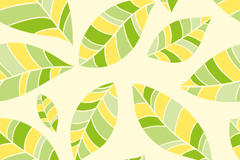 小清新树叶无缝背景矢量图