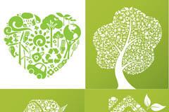 生态环保创意图标