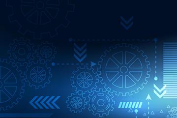 互联网蓝色科技背景图