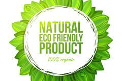绿色环保产品标签矢量图