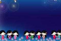 卡通开学季儿童背景图片