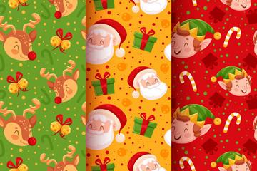 卡通圣诞老人背景图片