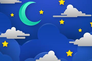 星星月亮矢量图