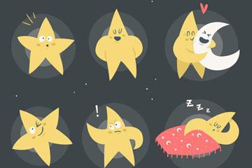 卡通月亮星星图片