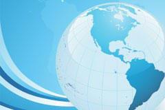 蓝色地球背景矢量素材
