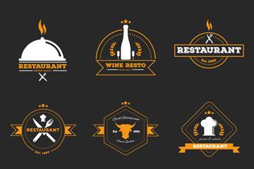 精致餐厅logo矢量图