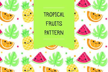 卡通水果背景图