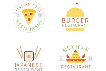 快餐店logo设计免抠素材