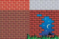 墙壁背景矢量素材