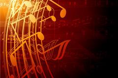 乐谱音符矢量图