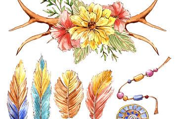 波西米亚风装饰图案