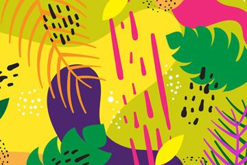 抽象树叶背景图
