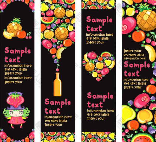 水果创意背景图片