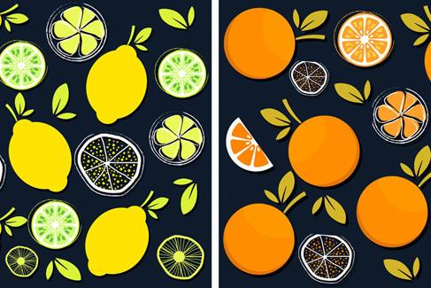 水果聊天背景图