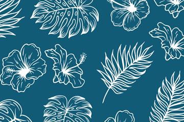 手绘植物背景图