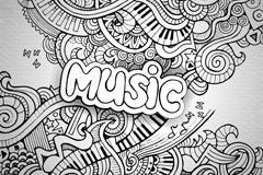 抽象音乐符号图片