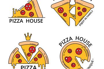 披萨店品牌logo设计素材