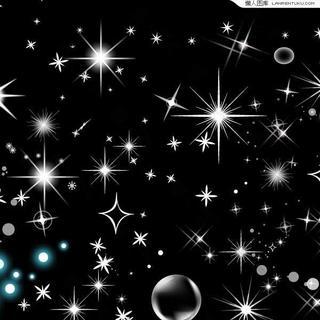 璀璨星光背景矢量素材