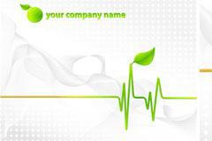 简洁绿色企业背景矢量素材