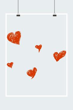 手绘爱心图案