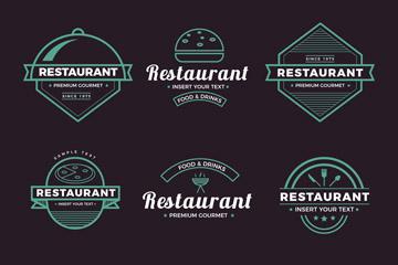 西餐厅logo设计矢量图