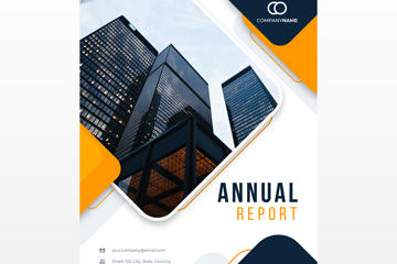 年度报告矢量图