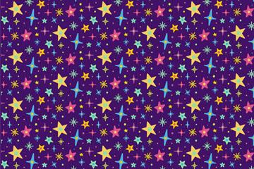 彩色星星背景图