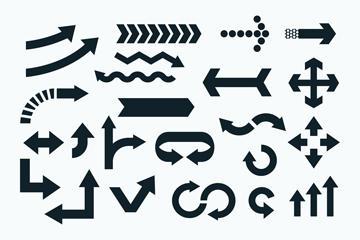 创意箭头标识设计矢量图