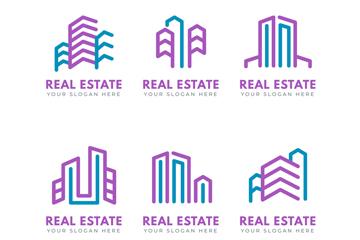 扁平化地产logo矢量图