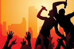 演唱会人物海报背景图片