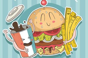 可乐汉堡图片