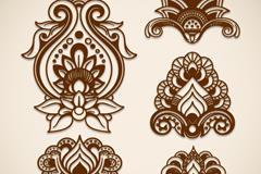 花卉对称图案
