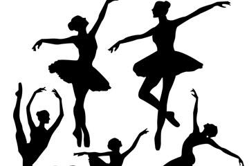 芭蕾舞人物剪影
