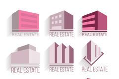 房地产立体建筑矢量图