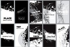创意黑白卡片矢量素材
