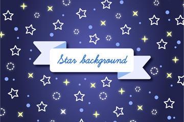 浪漫星星无缝背景图