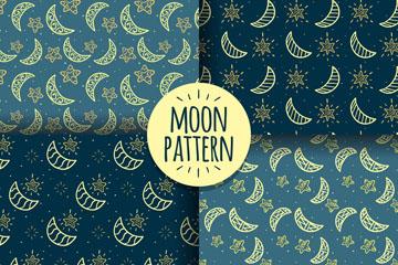 月亮星空背景图