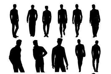 男性人物剪影