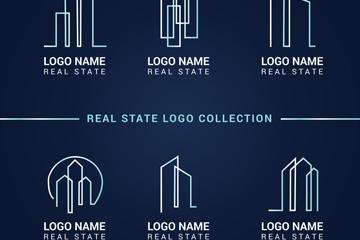 现代风地产logo标志