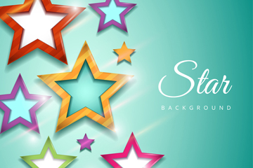 彩色星星贴纸背景图