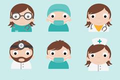 卡通医护人员头像