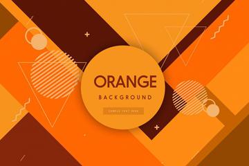 创意橙色几何形背景矢量素材