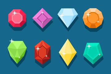 12款彩色钻石图标矢量素材